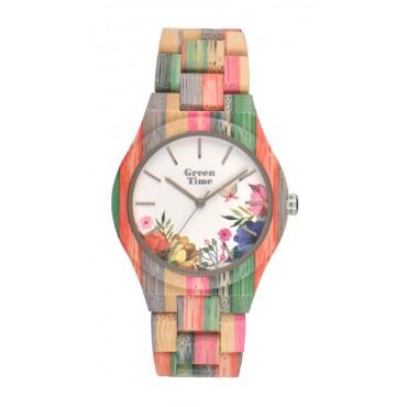 GreenTime Holzuhr Elisa - Damen Armbanduhr aus Bambus