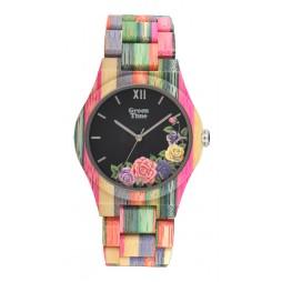 GreenTime Holzuhr Lisa - Damen Armbanduhr aus Bambus