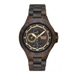 GreenTime Holzuhr Adrian - Herren Armbanduhr aus Sandelholz