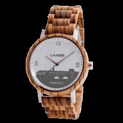 Amberg Uhr City Watch - Holzarmbanduhr aus Zebran holz