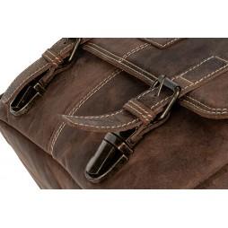 Leder Fototasche Kapstadt medium Vintage Brown für Systemkamera mit Objektiven + Zubehör