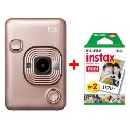 Fujifilm Instax LiPlay blush gold Sofortbildkamera inkl. einen Doppelpack Filme 2x 10 Bilder