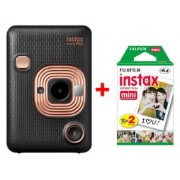 Fujifilm Instax LiPlay elegant black Sofortbildkamera inkl. einen Doppelpack Filme 2x 10 Bilder