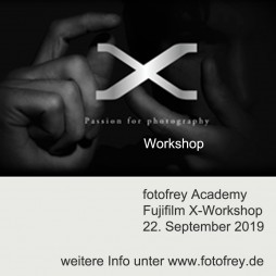 Fujifilm X Workshop für alle X-Modelle , 22. September 2019 mit Fujifilm Trainer