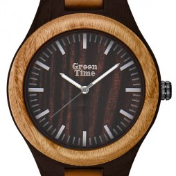 GreenTime Holzuhr Marie - Damen Armbanduhr aus Sandelholz