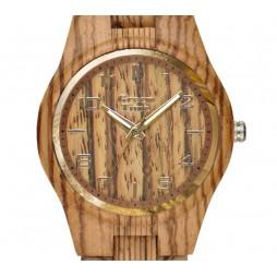 GreenTime Holzuhr Johanna - Damen Armbanduhr aus Zebranoholz