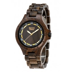 GreenTime Holzuhr Marlon - Herren Armbanduhr aus Sandelholz