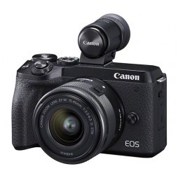 Canon EOS M6 II + EF-M 3,5-6,3/15-45mm IS STM schwarz Kit