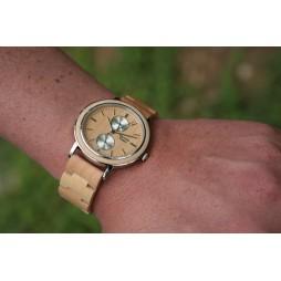 GreenTime Holzuhr Andrea - Unisex Armbanduhr aus Ahornholz