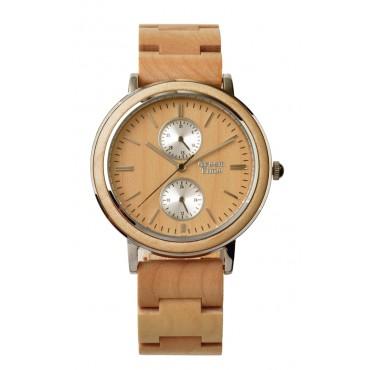 GreenTime Holzuhr Lucci - Unisex Armbanduhr aus Olivenholz