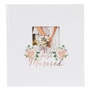 Goldbuch Hochzeitsalbum Just Married 30x31 cm , 60 weiße Seiten 08388