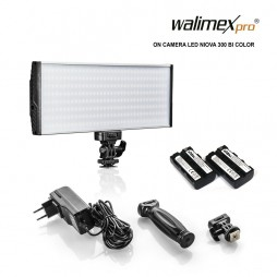 Walimex pro LED Niova 300 Bi Color On Camera LED Leuchte 30 Watt inkl. 2 Akkus