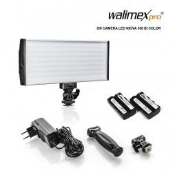 Walimex pro LED Niova 300 Bi Color On Camera LED Leuchte 30 Watt inkl. 2 Akkus
