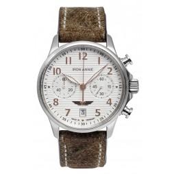 IRON ANNIE 5876-4 WELLBLECH Herren Armbanduhr Chronograph VINTAGE BAND