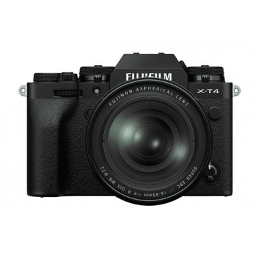 FUJIFILM X-T4 schwarz mit XF16-80mm F4 R LM OIS