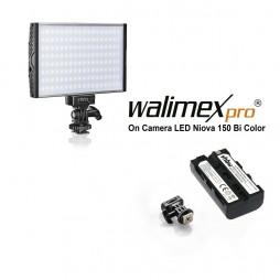 Walimex pro Niova 150 Bi Color On Camera LED Leuchte 15 Watt inkl. Akku !