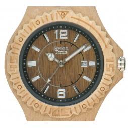 Holzuhr Kim - Herren Armbanduhr aus Ahornholz
