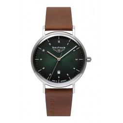 BAUHAUS UHR Quarz 2140-4 green - Wasserdicht 5 atm , 41 mm , Date
