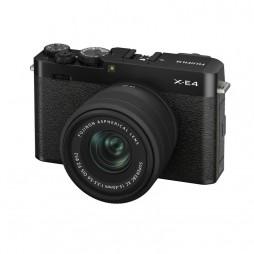 FUJIFILM X-E4 black mit Objektiv mit XC-15-45mm F3,5-5,6 OIS PZ