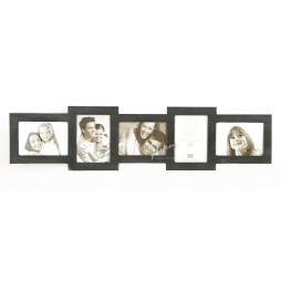 Deknudt Galerierahmen Holz schwarz bemalt , 5 Bilder 13x18 cm