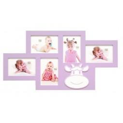 DEKNUDT Galerierahmen , rosa , für 5 Bilder 10x15 cm