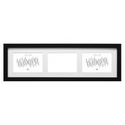 Deknudt Holz Galerierahmen Schwarz für 3 Bilder 13x18 cm