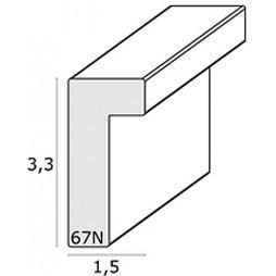 Deknudt Galerierahmen taupe für 3x 13x18 cm Doppelpasspartout mit Tiefenwirkung