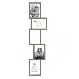 Deknudt Galerierahmen für 5 Bilder in taupe 10x15 cm