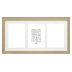 Deknudt Galerierahmen für 3 Bilder in braun 10x15 cm