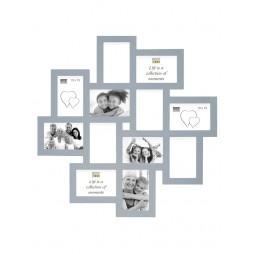 Deknudt Galerierahmen, grau für 12 Bilder 10x15 cm Holz