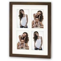 ZEP Galerierahmen Galerierahmen 4 Bilder in 10x15 cm braun zum Hängen + Stellen