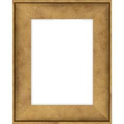 Holzrahmen gold (Schattenfuge)