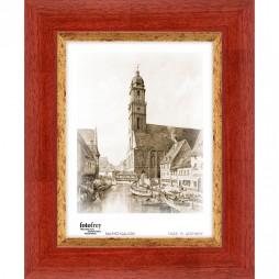 Holzrahmen Verona 1 rot-gold