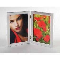 EURATIO Metall Doppelrahmen SANIA für 2 Bilder 9x13 cm Hochformat zum Stellen