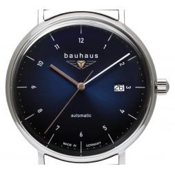 BAUHAUS Automatik UHR 2152-2 nachtblau Day Date - mechanisch, autom. Aufzug