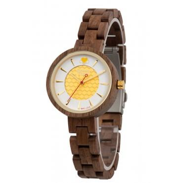 GreenTime Holzuhr API - Damen Armbanduhr aus Walnussholz