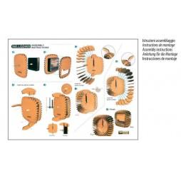 Greentime Design Tischuhr Holzuhr Square als Bausatz