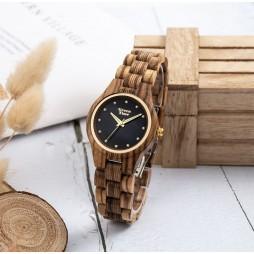 GreenTime Holzuhr Luisa - Damen Armbanduhr aus Sandelholz